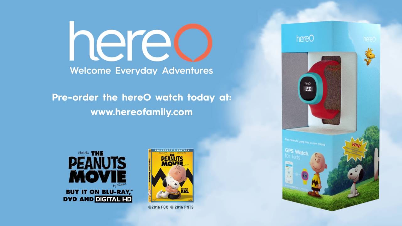 Download The hereO GPS watch for kids & the Peanuts gang