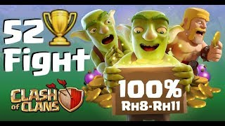 [410] 100 Prozent💯Rh8 - 11 | 52 Pokal Gegner | Hog Power Clash of Clans Deutsch COC