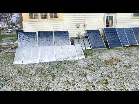 Light Snow on the Solar Panels
