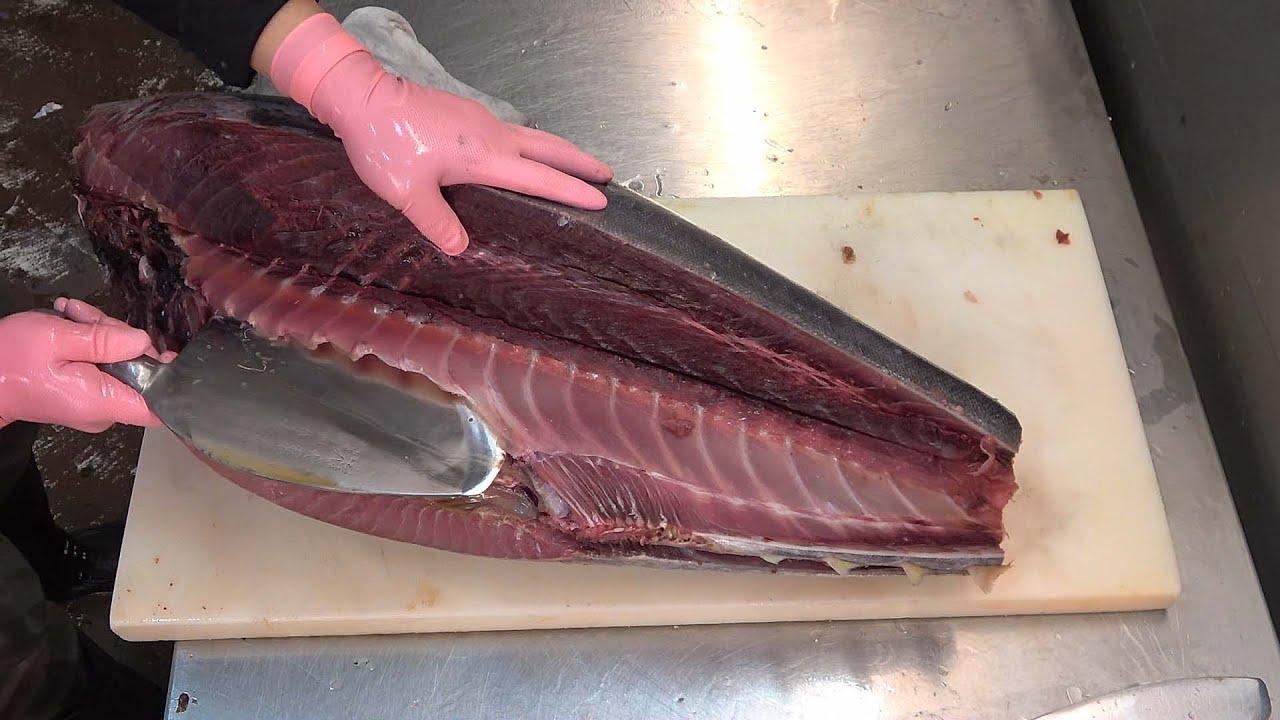 Tuna Fish Cutting Fillet Asia Fish Market Youtube