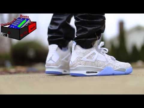 new style b9802 87415 Air Jordan 4 Retro Laser 30th Anniversary On Feet