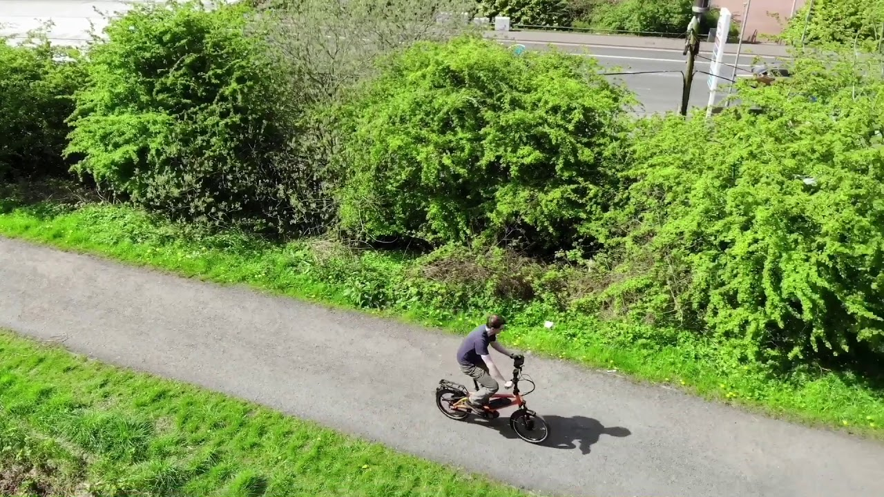 Cycling a R&M Tinker along the Forth & Clyde canal.