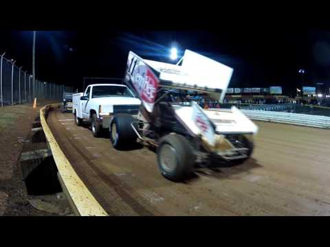 Lincoln Speedway 410 and 358 Sprint Car Highlights 10-10-15