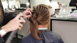 """Урок """"Вечерняя Прическа на короткие волосы """""""