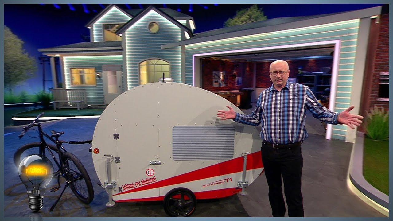 mini camper t1 der fahrradwohnwagen das ding des jahres youtube. Black Bedroom Furniture Sets. Home Design Ideas