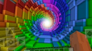 The Rainbow Dropper in Minecraft Pocket Edition (Dropper Map)