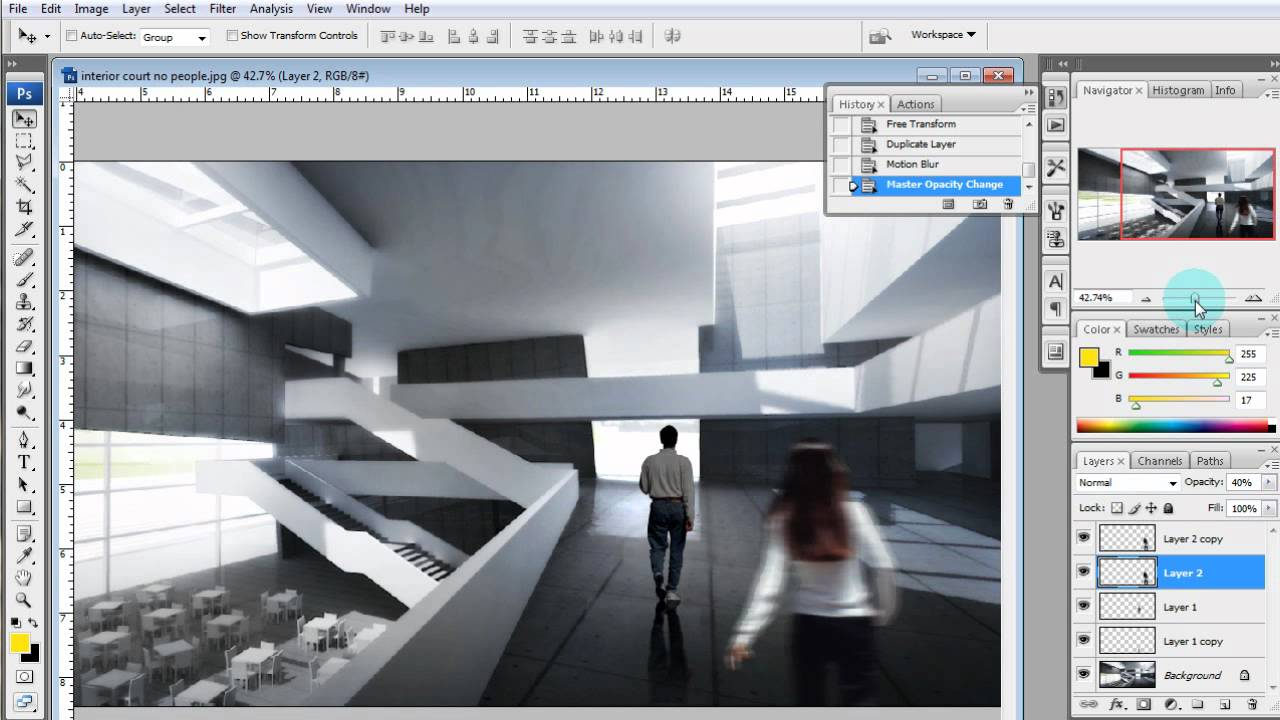 Architectural Illustration Tutorial Adding People Via