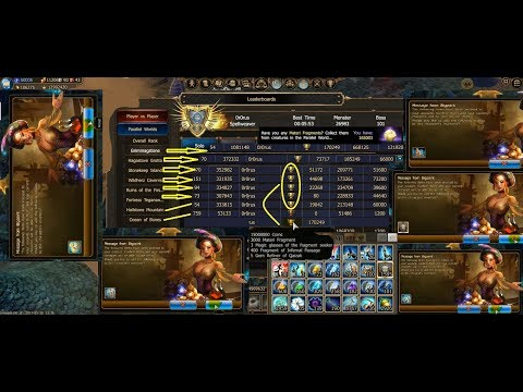 Drakensang Online PvE reiting Gold League 10k+ gold! and much others...