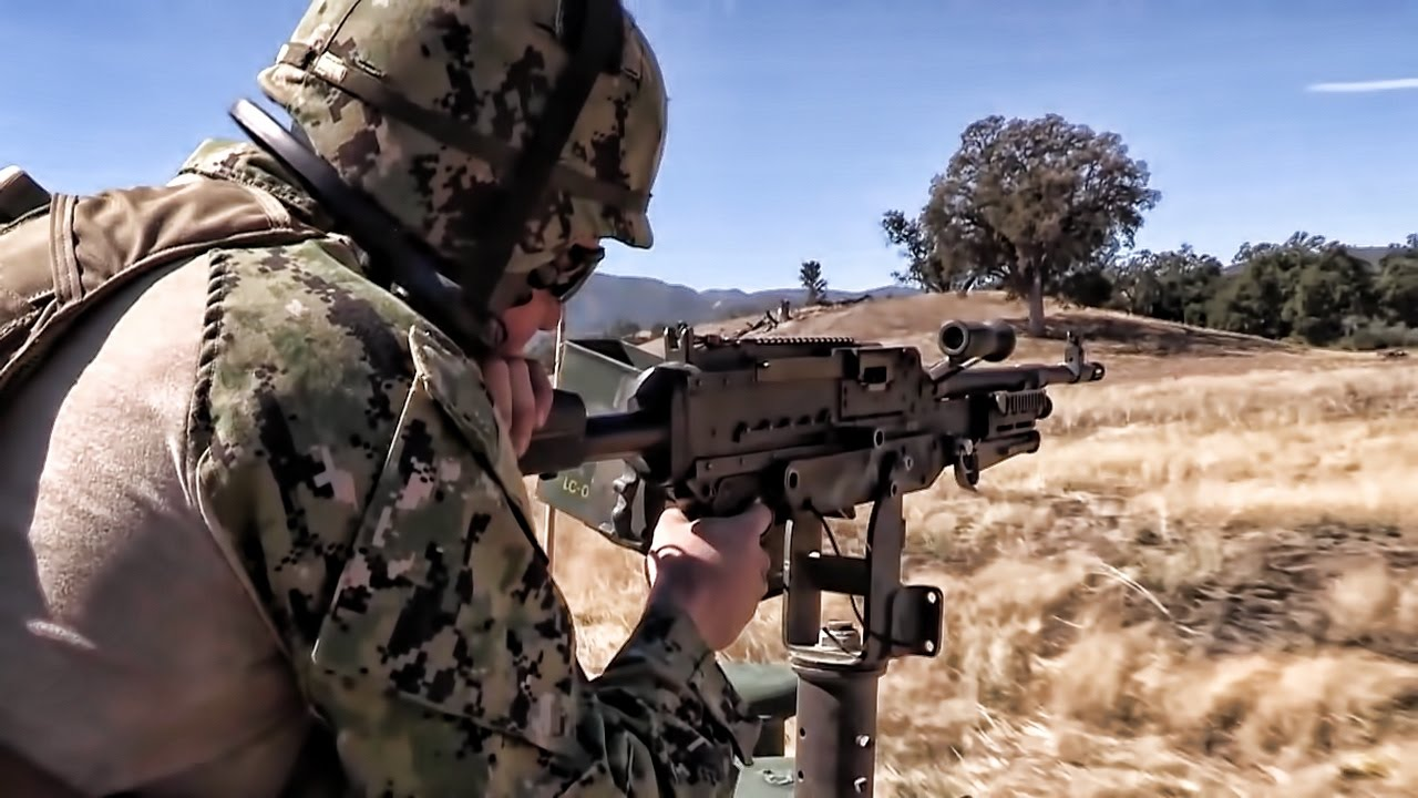 convoy security gun shoot u s navy seabees youtube