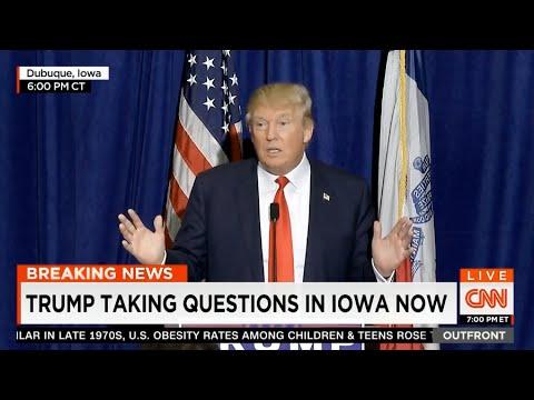 [HD] Donald Trump Press Conference From Dubuque, Iowa. 8/25/2015