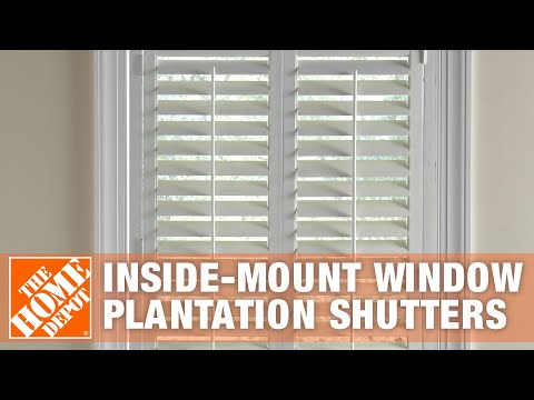 How To Measure For Inside-Mount Window Plantation Shutters | The Home Depot