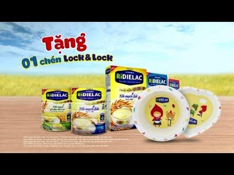 Quảng cáo cho bé ăn ngon - Chương trình khuyến mãi bột ăn dặm RiDIELAC