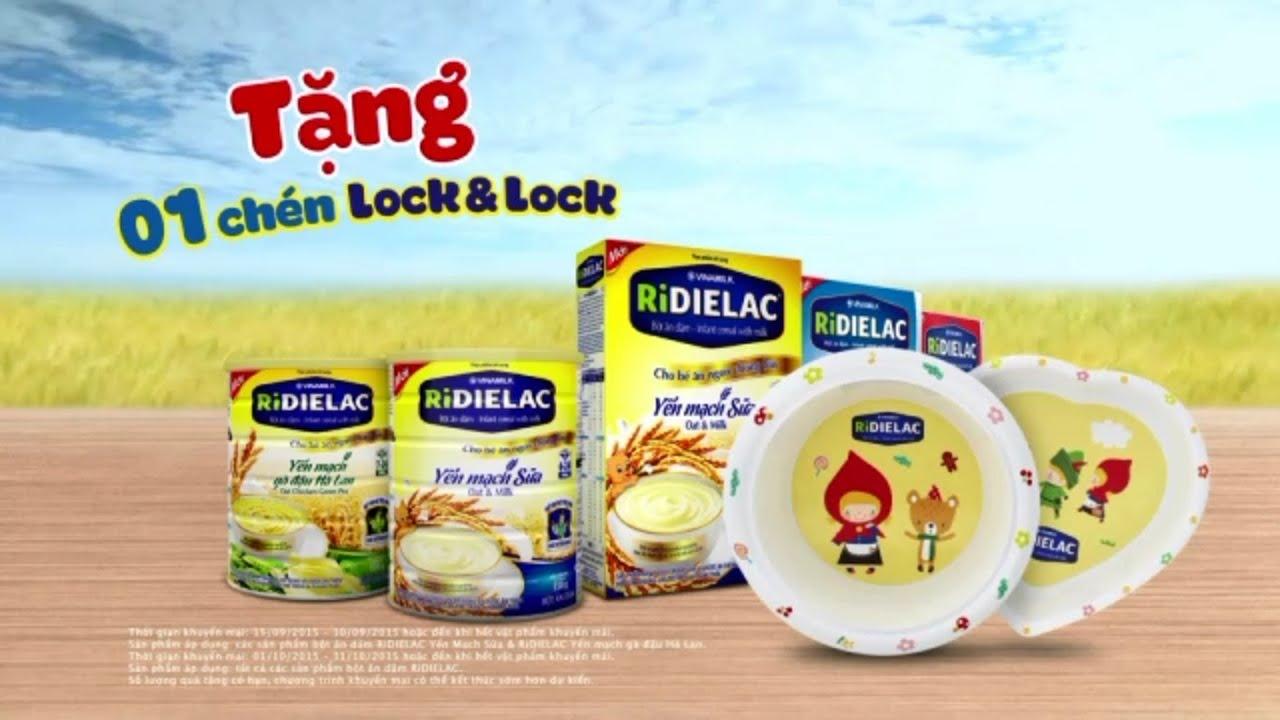 Quảng cáo cho bé ăn ngon – Chương trình khuyến mãi bột ăn dặm RiDIELAC