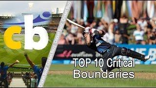 Top 10 Critical Boundaries | Cricket World Record Videos