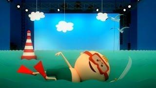 Аркадий Паровозов спешит на помощь - Почему опасно переворачивать плавательный матрас - мультфильм