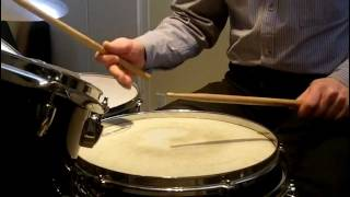 Practising Single and Double Strokes for Snare Drum