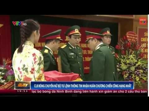 CLB bóng chuyền nữ Bộ Tư Lệnh Thông Tin nhận huy chương chiến công hạng nhất