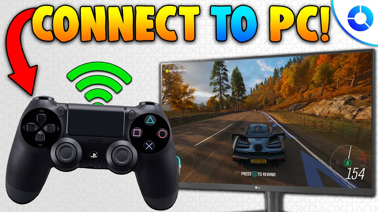 How To Connect Ps4 Controller To Pc Wirelessly In 2021 Ps4 Controller On Forza Horizon 4 More Youtube