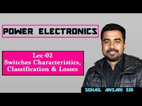 Lec 02 Switches Characteristics,Classification & Losses