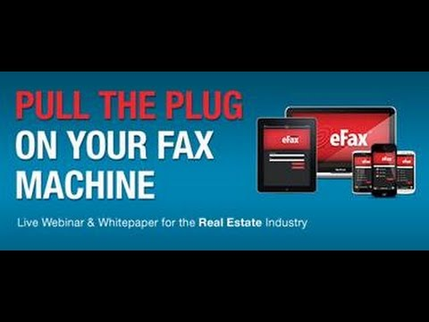 Unplug the Fax Machine Webinar - Real Estate | eFax Corporate®
