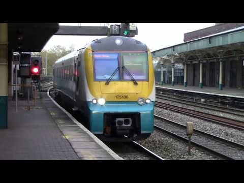 trains at Newport Railway Station South Wales 11/01/2017