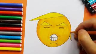 How To Draw Funny Donald Trump Emoji