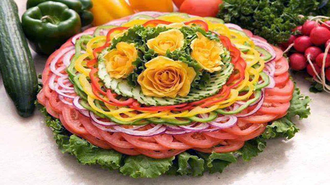 Food Art Garnishing Made Easy YouTube