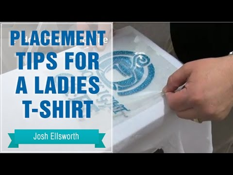 Placement Tips For A Ladies T Shirt Youtube