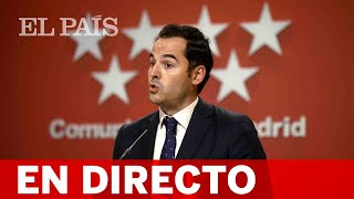 DIRECTO #CORONAVIRUS   MADRID: Rueda de prensa tras el CONSEJO DE GOBIERNO