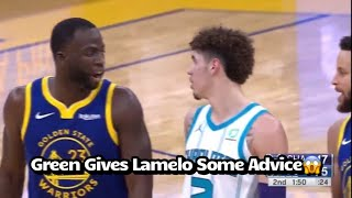 Draymond Green Giving Lamelo Ball Some Piece Of Advice After Getting Technical😱