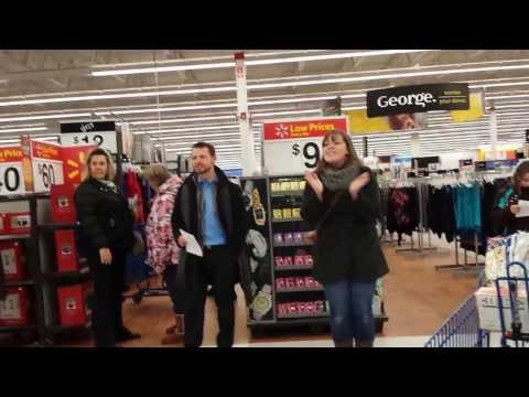 Flash mob at local moncton nb walmart must watch!