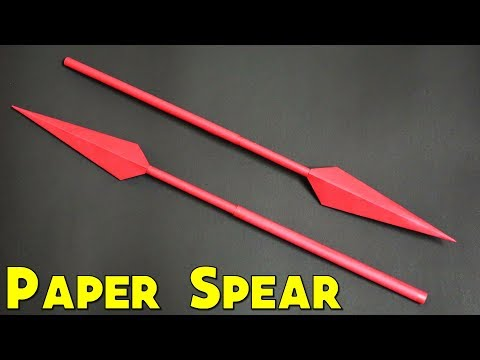 How to make a Paper SPEAR | Paper Weapon | Easy | Tutorial