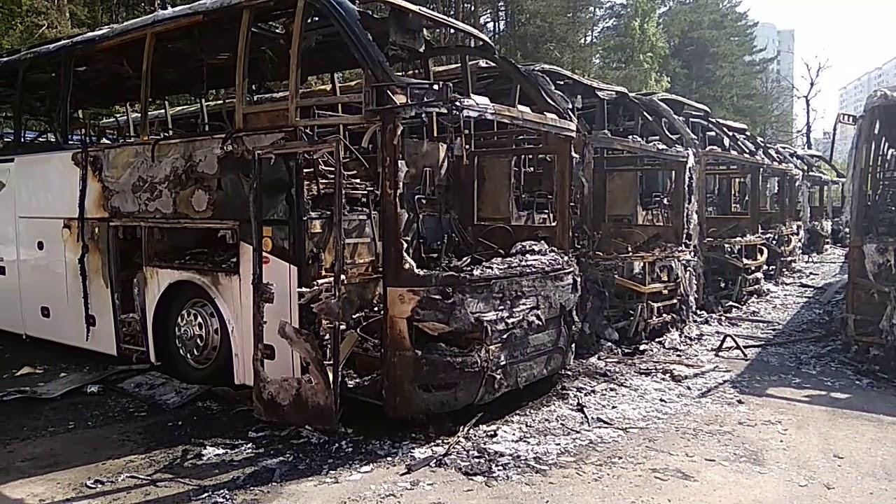 Война за автобусы, сгорело 19 автобусов Higer и Golden Dragon