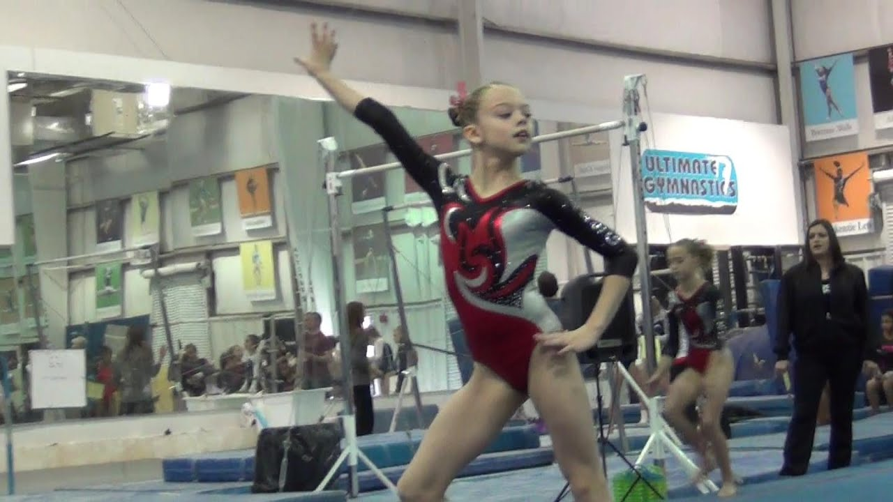 Whitney - Level 7 Gymnastics Floor Routine - YouTube