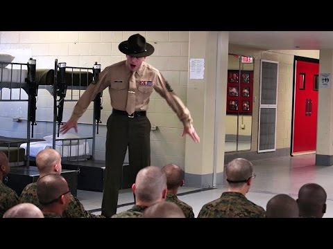 Angry Drill Instructors Greet New Recruits