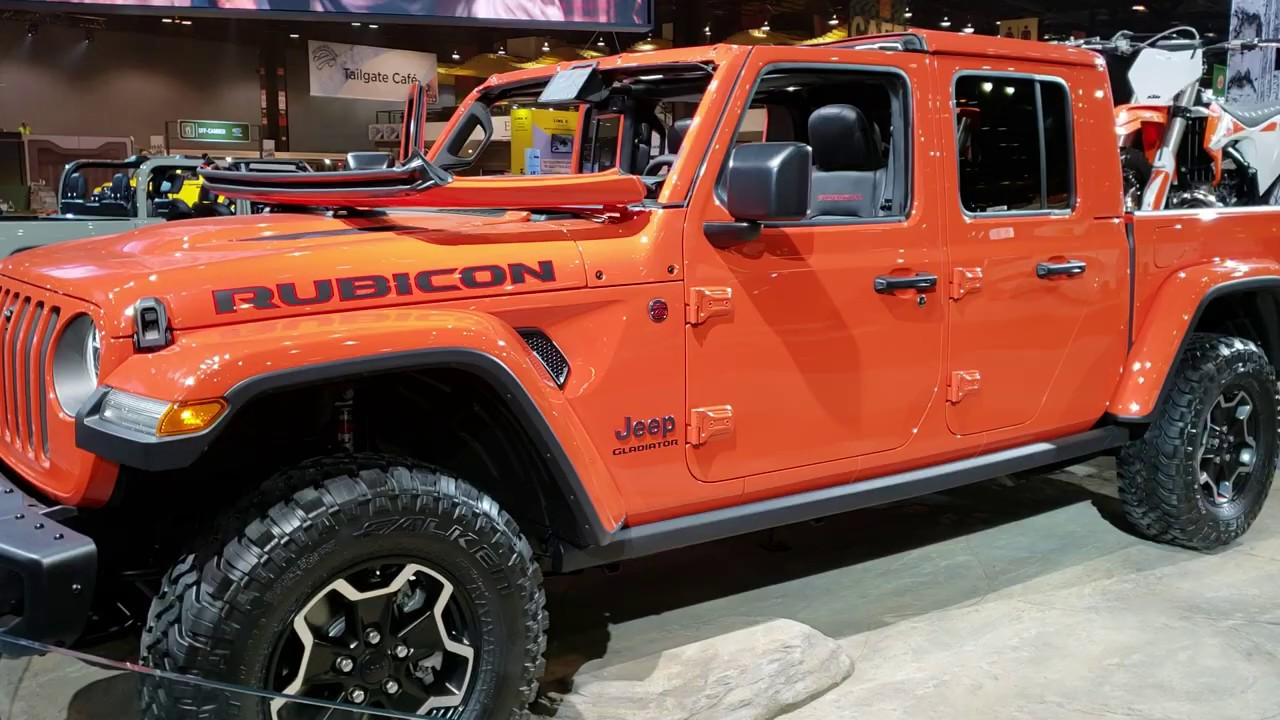 2020 Jeep Gladiator Rubicon Orange