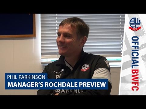 PHIL PARKINSON   PHIL PARKINSON   Manager previews Rochdale clash
