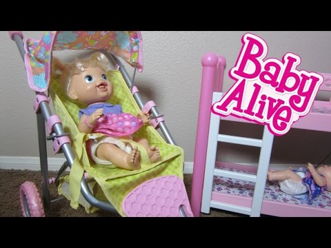 Baby Alive Baby Doll Stroller with Babys New Teeth and Elsa