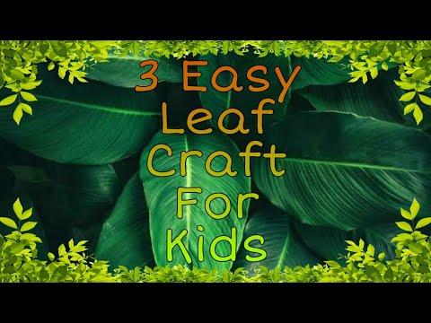 How To Make Natural Leaf Art | Leaf Craft For Kids | Leaf Animal Craft
