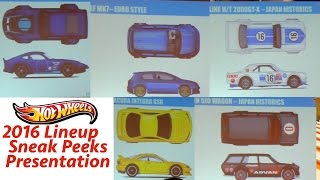Hot Wheels 2016 Lineup Sneak Peeks - Convention Finale