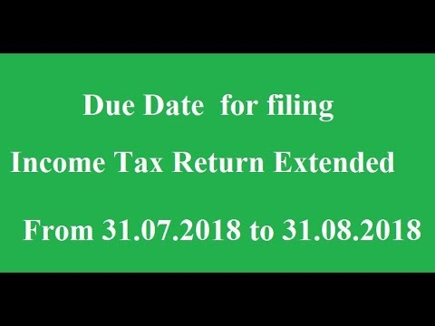 Income tax return filing extended date