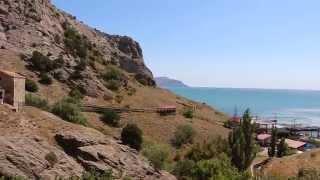 "Вид на пляж пансионата ""Крымская весна"" г. Судак."