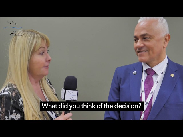 Interview: Costa Rica delegation Carlos Mario Orrego V. discuss Mako Shark vote