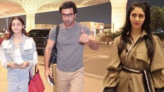 Bollywood Celebrities Snapped For Media Outside Mumbai Airport | Ranbir | Alia | Warina