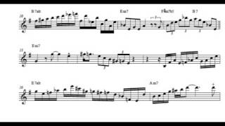 Michael Brecker  ¨Timeline¨ / solo transcription (transcribed by A.Zhulyev)
