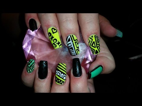 Acrylic Nails L Crazy Busy L Nail Design Youtube
