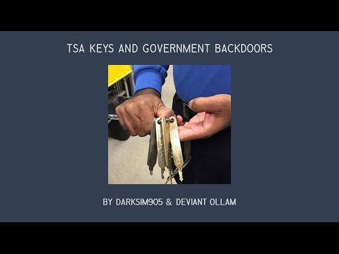 TSA keys & Government Backdoors