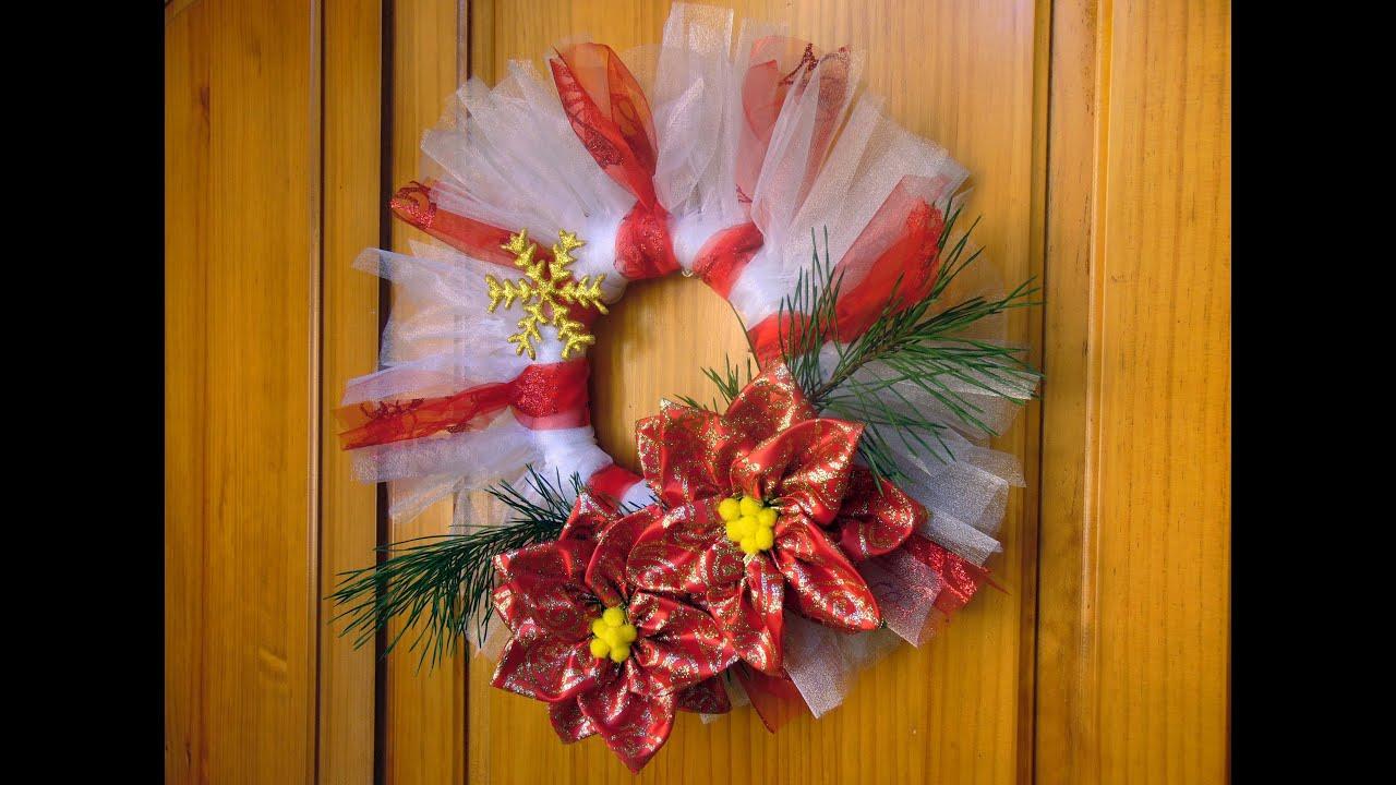 Como hacer flores para decorar en navidad youtube - Como decorar en navidad ...