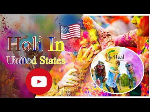 WORLD BEST HOLI IN USA BY ISKCON TEMPLE-VISITREALINDIA