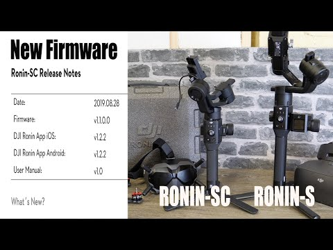 DJI Ronin SC & S New Firmware Overview $ App  - Commander Support, Motionlapse & Manual Focus.